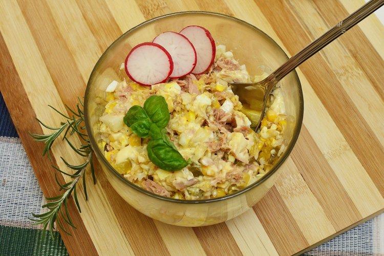 Salatka Z Tunczykiem I Kukurydza Jestemfit Pl